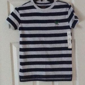 Cat & Jack boy's tee shirt blue navy and gray Sz M